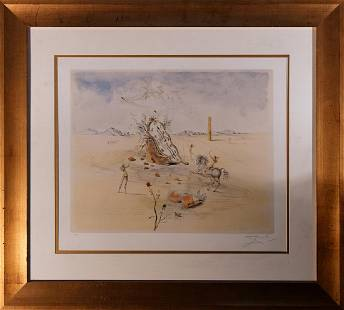 Salvador Dali Limited Edition Lithograph Cosmic