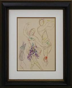 Marc Chagall Original Lithograph from the Ballet 1970