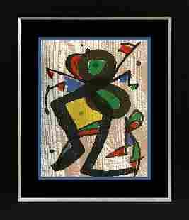 Joan Miro Original Wood Cut Engraving 1979