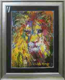 The Lion Le Roy Neiman Original Lithograph Hand signed