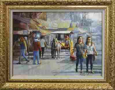 Original oil by Rafael Maniago