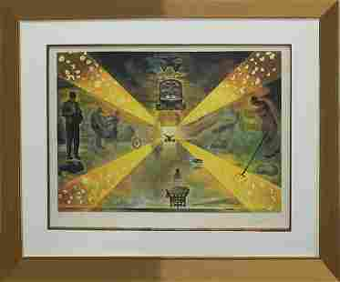 Salvador Dali Limited Edition Lithograph Road to
