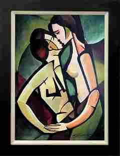 The Kiss Zinovy Shersher Artist Proof on canvas