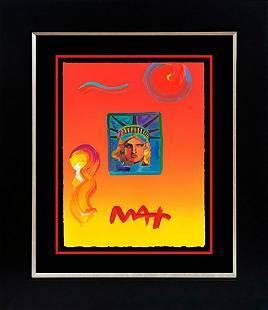 Peter Max Mixed Media Original on paper