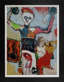 Original on canvas attributed to Jean-Michel Basquiat