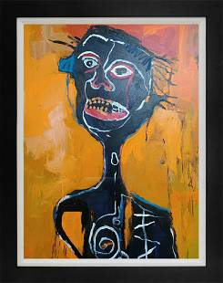 Original on canvas attributed to Jean- Michel Basquiat