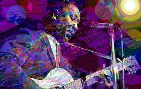 Muddy Waters by David Lloyd Glover Mixed Media Original