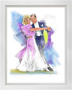 Fred Astaire and Ginger Rogers Dancing Mixed Media