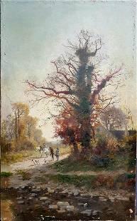 Old European Painting Hunt illegible signature