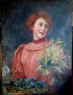 French Gilbert m OLD FRENCH PAINTING BY Victor