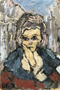 Oskar Kokoschka 1886 -1980 Original oil Portrait