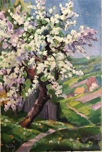 Vanessa Bell 1879-1961 Title- Landscape Technique- oil