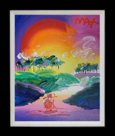 Without Borders Peter Max Original Acrylic on canvas