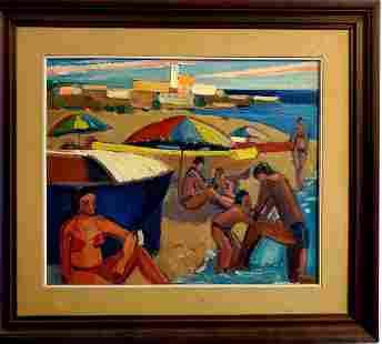 Oil on canvas Cuban