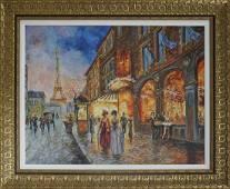 Arina Mixed Media original on canvas  Paris Twilight