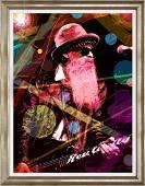 Billy Gibbons Mixed Media Original  David  Lloyd Glover
