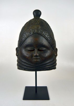 Mende Bundu African Mask with Family Name & Date