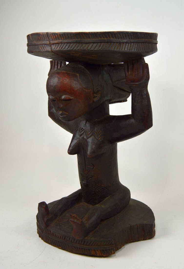 A Very Fine old Luba Prestige Stool, African Art