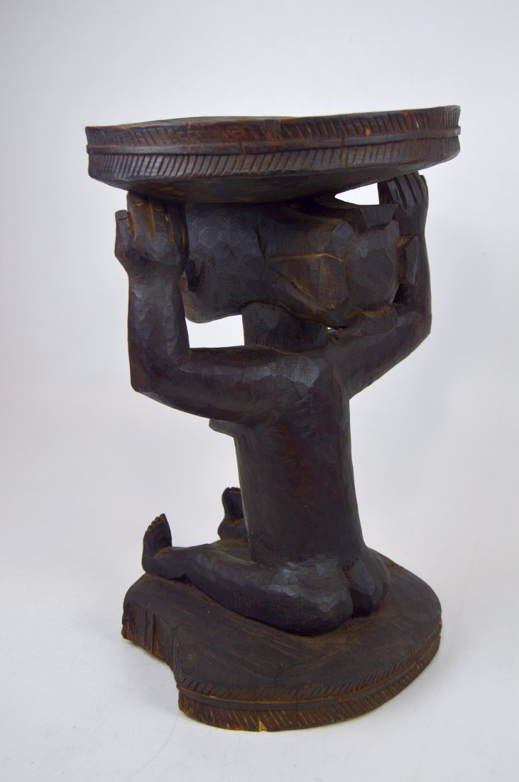 A Very Fine old Luba Prestige Stool, African Art - 6