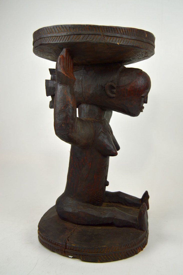A Very Fine old Luba Prestige Stool, African Art - 7