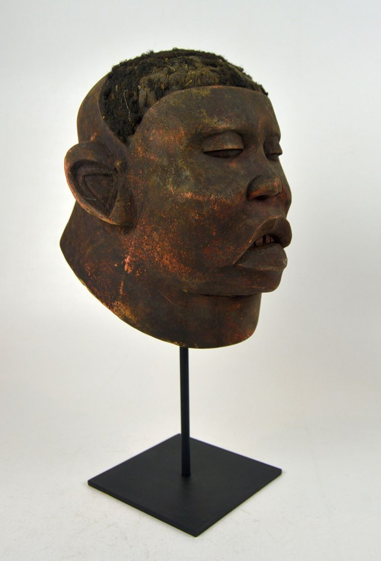 A Red Makonde Lipico Initiation mask African Art