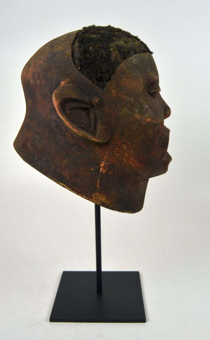 A Red Makonde Lipico Initiation mask African Art - 4