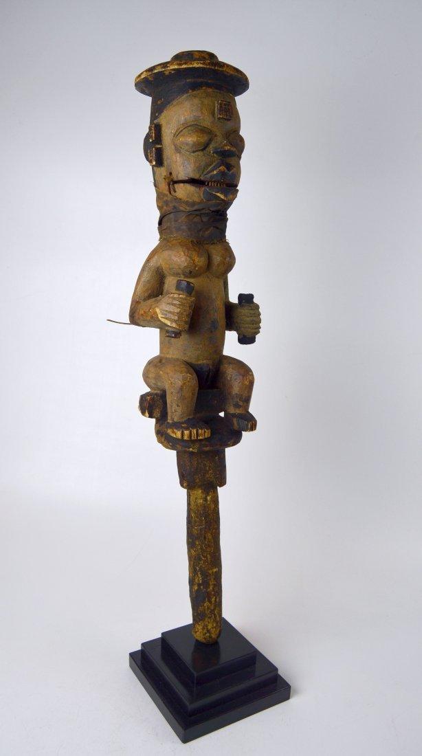A Rare Old Ogoni marionette staff African Art