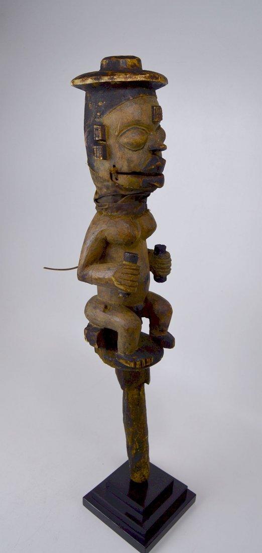 A Rare Old Ogoni marionette staff African Art - 2