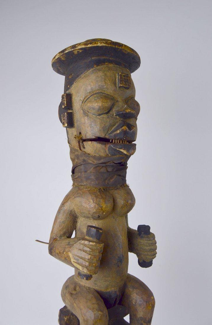 A Rare Old Ogoni marionette staff African Art - 3