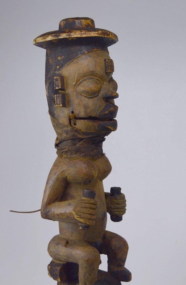 A Rare Old Ogoni marionette staff African Art - 6