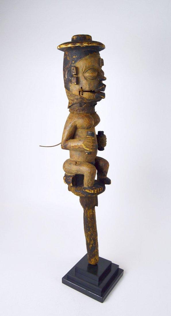 A Rare Old Ogoni marionette staff African Art - 7