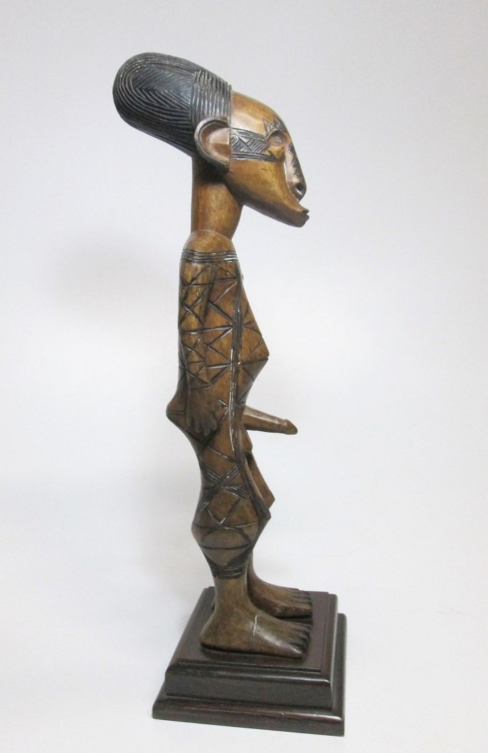 Fine Old Mangbetu Ancestor carving with erect phallus