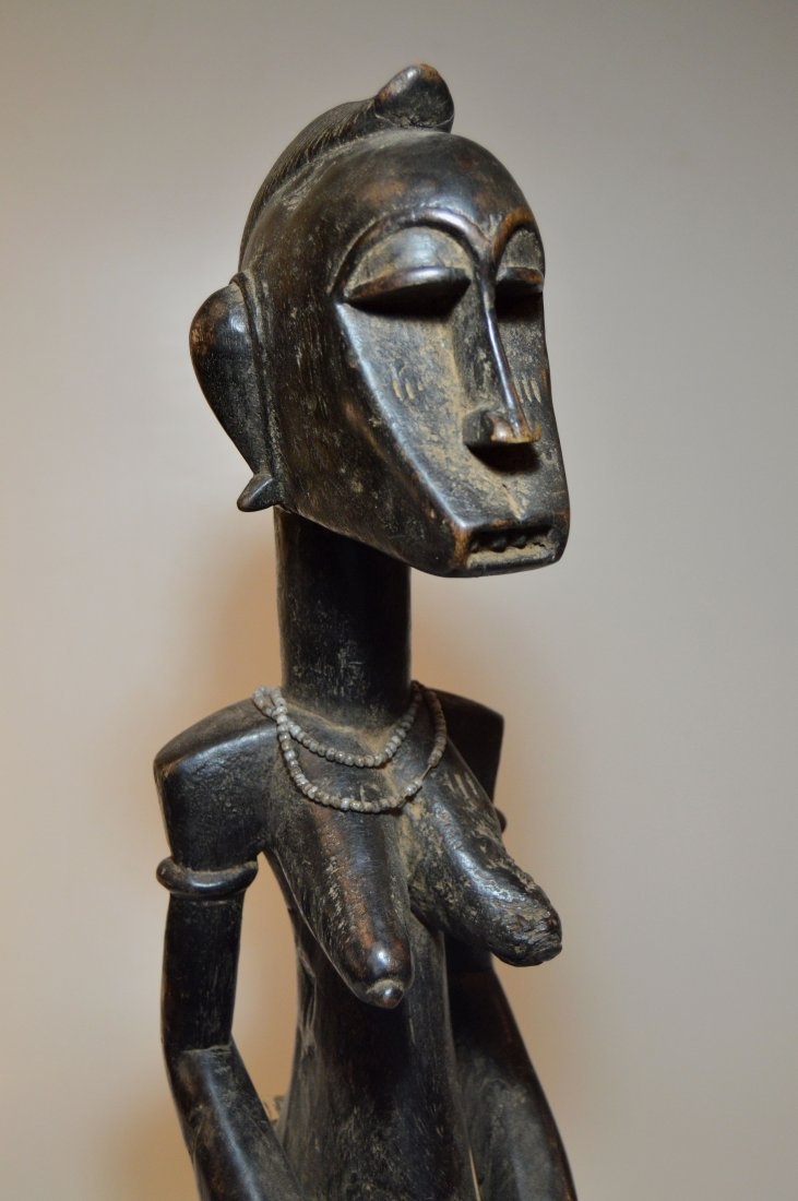 A Fine old Senufo female Ancestor sculpture African Art - 8