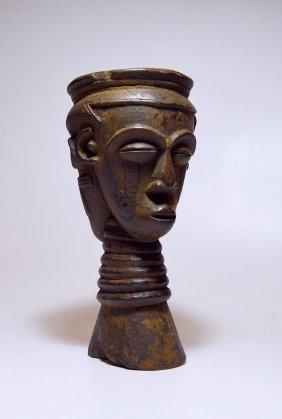 Old Kuba janus Ancestor faces Palm wine Cup
