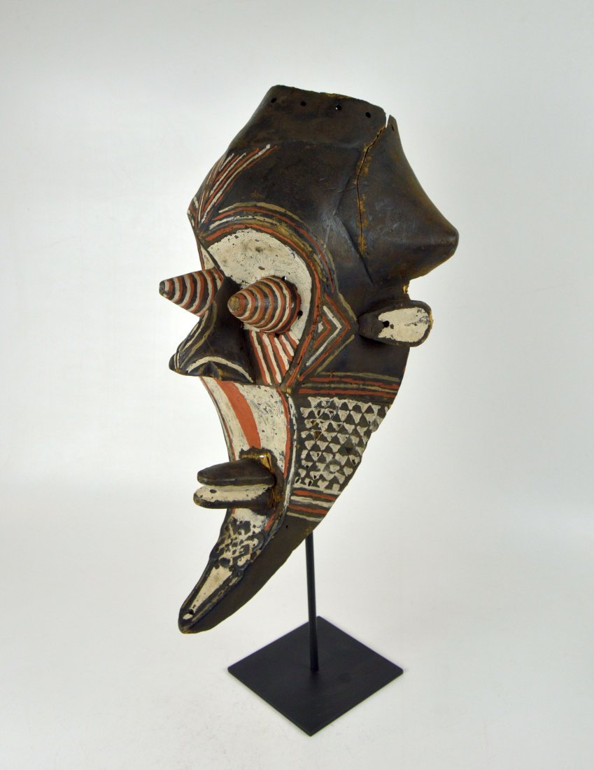 Fantastic Kuba Kete painted African mask
