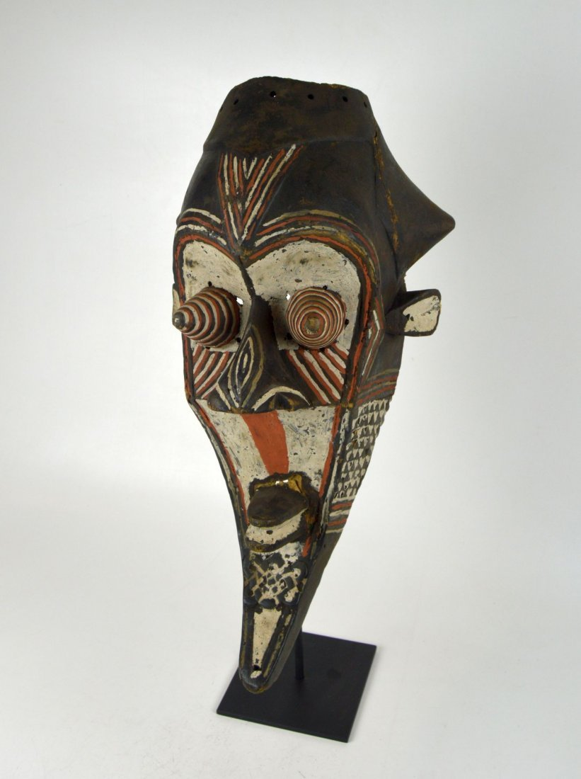 Fantastic Kuba Kete painted African mask - 2