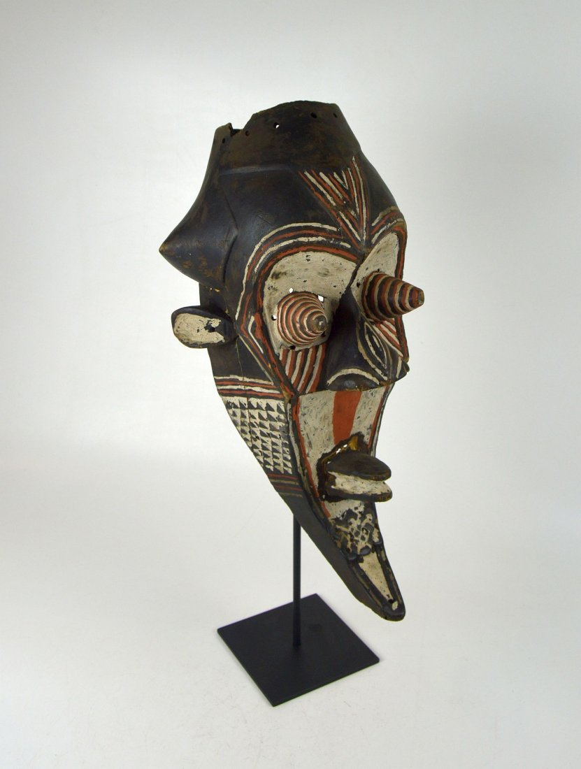 Fantastic Kuba Kete painted African mask - 3