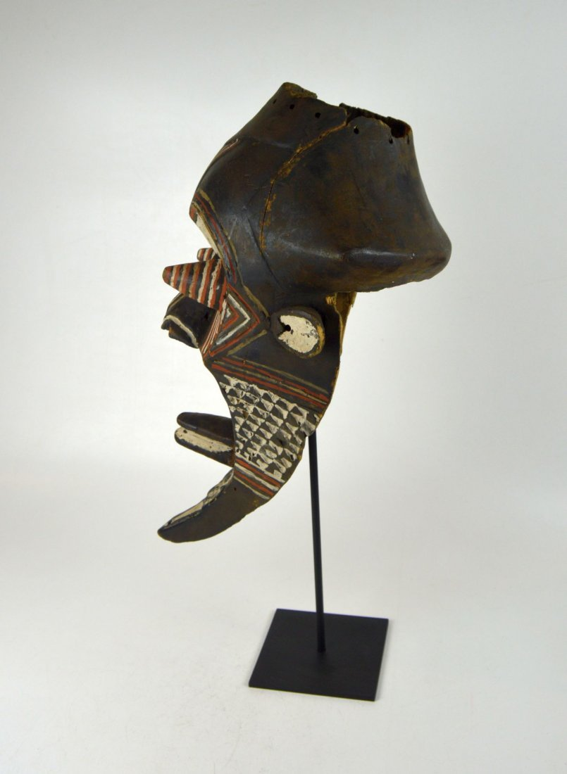 Fantastic Kuba Kete painted African mask - 6
