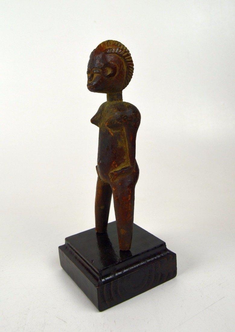 Old Baule Akan female figurative Sling Shot African Art