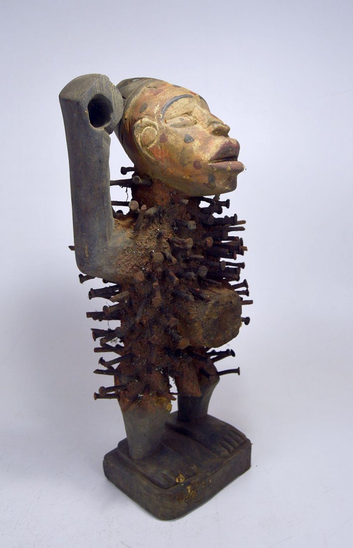 Kongo Nail fetish sculpture , African Tribal Art