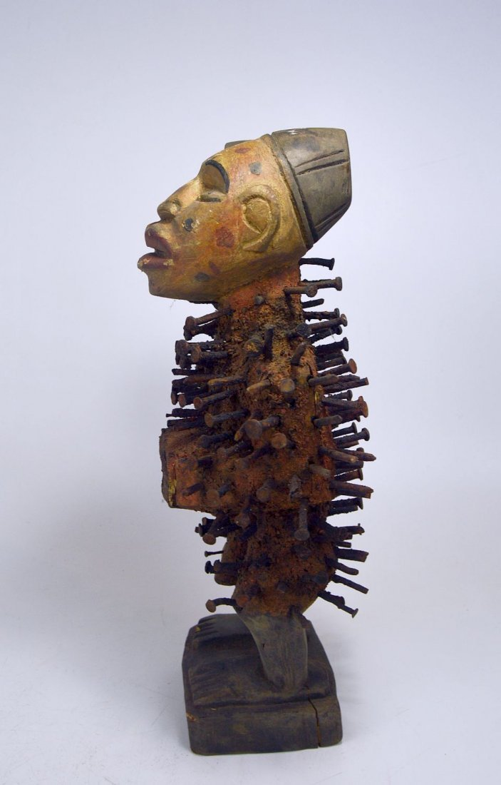 Kongo Nail fetish sculpture , African Tribal Art - 2