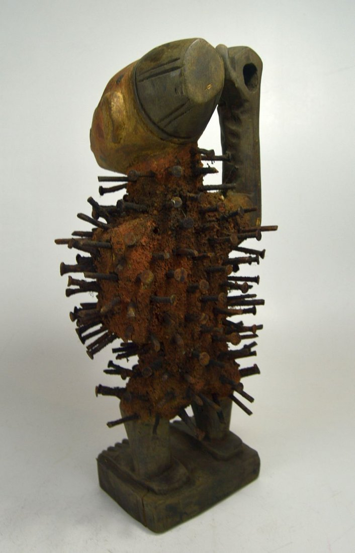 Kongo Nail fetish sculpture , African Tribal Art - 5
