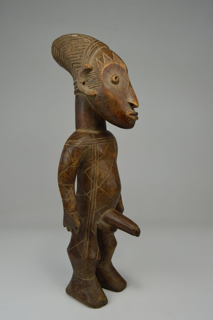 mangbetu male sculpture with erect phallus  african art