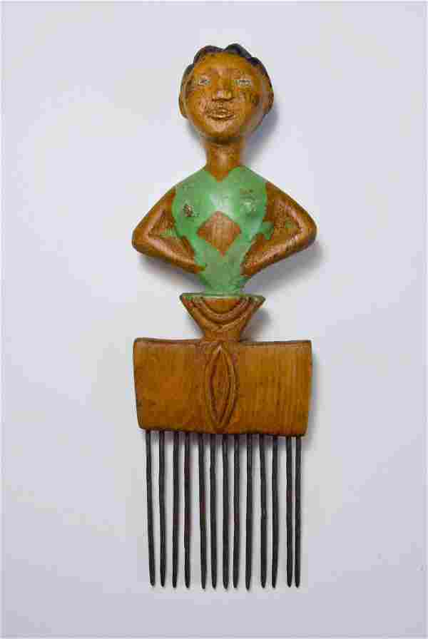 A Fine old Akan / Ashanti Comb, African Art