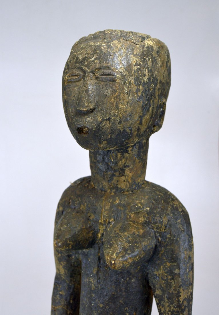 Large Old Primitive Akan Shrine figure, African Art - 10
