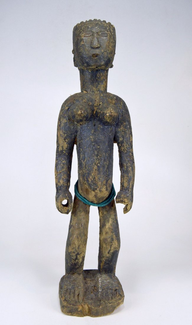 Large Old Primitive Akan Shrine figure, African Art