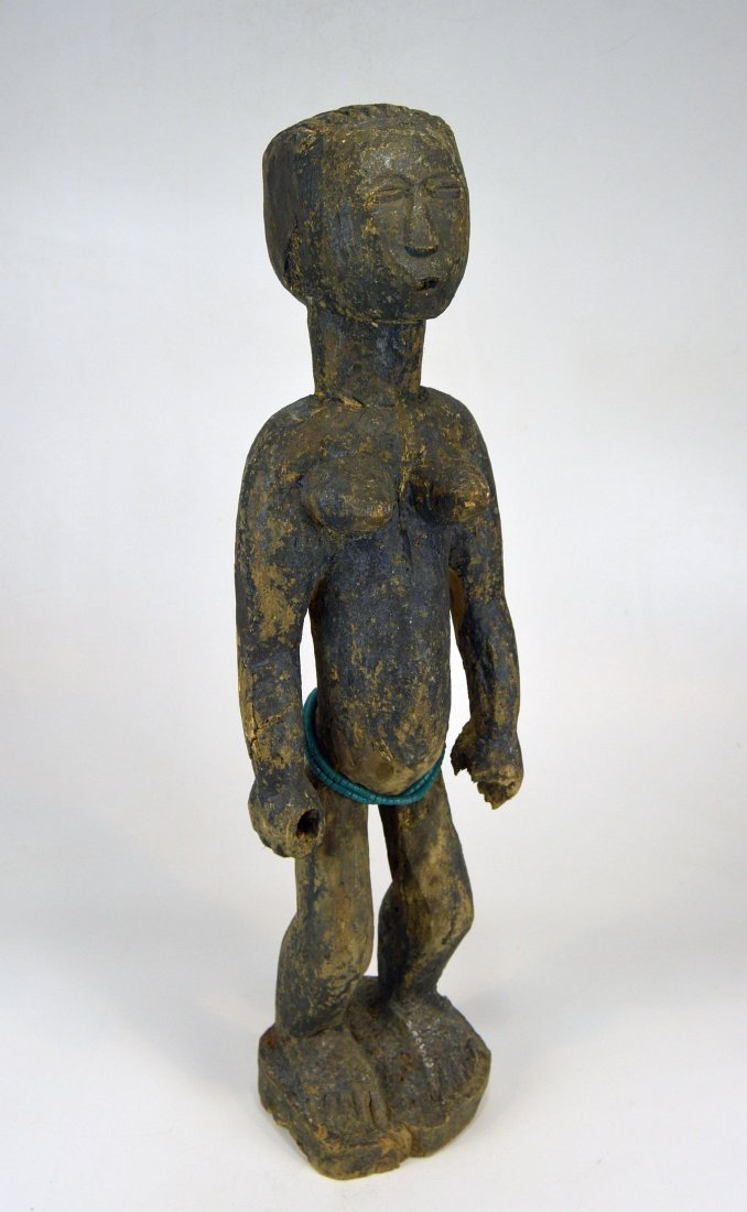Large Old Primitive Akan Shrine figure, African Art - 3
