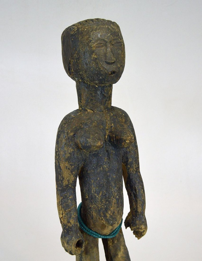 Large Old Primitive Akan Shrine figure, African Art - 4