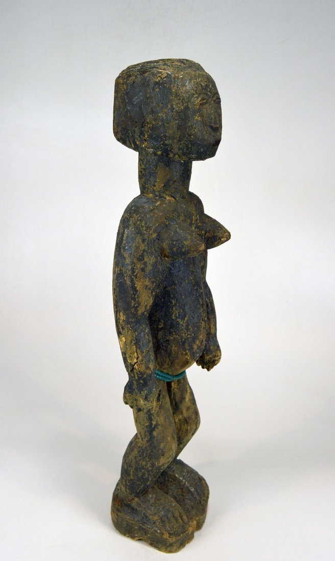 Large Old Primitive Akan Shrine figure, African Art - 5