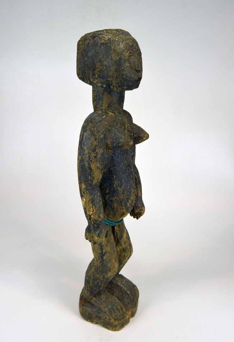 Large Old Primitive Akan Shrine figure, African Art - 6